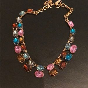 JCrew multi colored crystal necklace